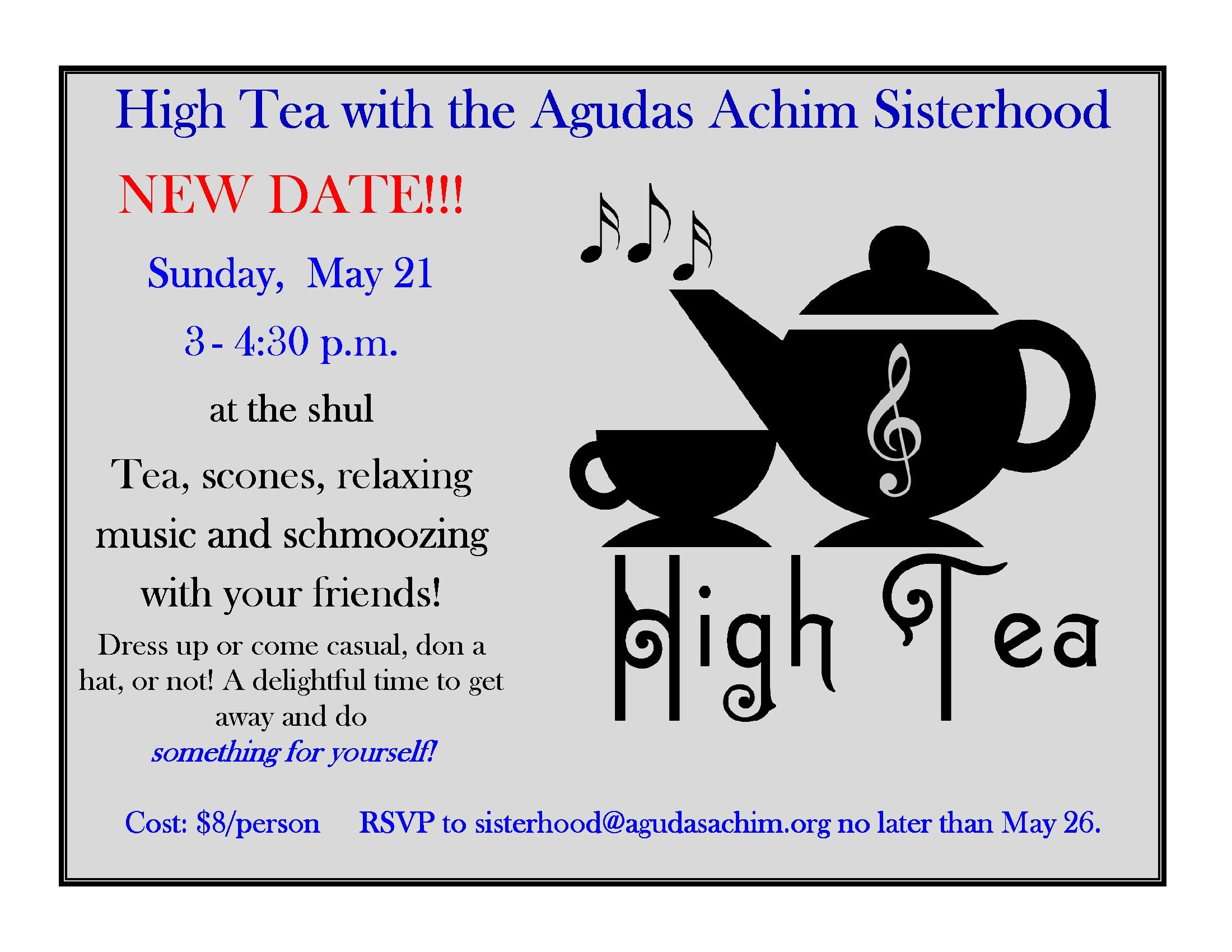 Sisterhood High Tea